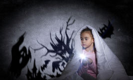 L'incubo del bambino Fotografie Stock Libere da Diritti