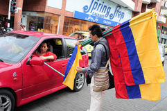 L'indépendance Day.Colombia Image stock