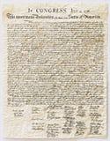 l'indépendance de déclaration Image stock