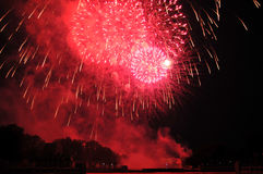 l'indépendance de feux d'artifice de jour Image libre de droits