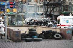 L'indépendance : la dignité de la révolution Kiev 2013 images stock
