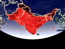 L'Inde britannique la nuit de l'espace illustration de vecteur