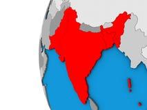 L'Inde britannique sur le globe 3D illustration libre de droits