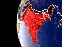 L'Inde britannique sur le globe de l'espace illustration de vecteur