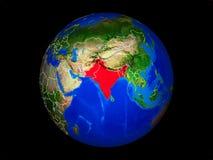 L'Inde britannique sur terre de l'espace illustration libre de droits