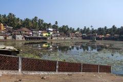 l'Inde Gokarna le réservoir sacré photos libres de droits
