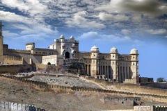 l'Inde jaipur Paysage ambre de ville de fort dans le jour ensoleill? image stock