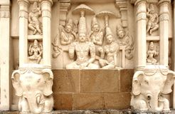 l'Inde, Kanchipuram : Temple de Kailashanatha Photos stock