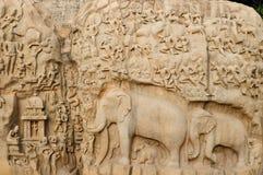 l'Inde - la punition d'Arjunas photo stock
