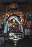1977 l'Inde Le Bouddha de marbre blanc, dans le temple de Triloknath Images stock