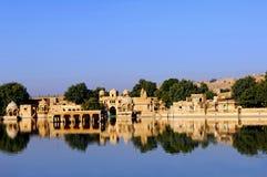 l'Inde, Ràjasthàn, Jaisalmer : le lac Photo libre de droits
