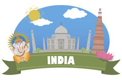l'Inde Tourisme et voyage illustration libre de droits