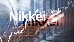 L'index moyen courant de Nikkei 225 Concept ?conomique d'affaires financi?res illustration de vecteur