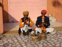L'India, ammaliatori del serpente Immagini Stock