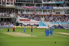 L'India contro l'Inghilterra a signori Immagini Stock Libere da Diritti