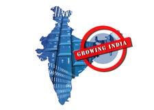 L'India crescente immagine stock