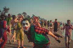 L'India, Goa - 2 febbraio 2016: Carnevale strano annuale in Arambol Fotografie Stock Libere da Diritti