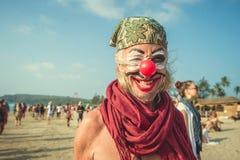 L'India, Goa - 21 febbraio 2017: Carnevale strano annuale in Arambol Immagine Stock