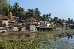 L'India Gokarna il bacino idrico sacro fotografia stock