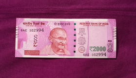 L'India ha vietato una vecchia nota da 500 e 1000 rupie fotografie stock