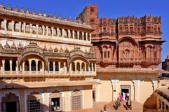 L'India, Jodhpur: La fortificazione del mehrangarh Fotografia Stock Libera da Diritti
