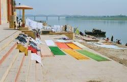 L'India, la lavanderia. Fotografia Stock Libera da Diritti