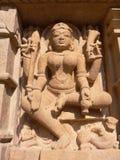 L'India, Madhya Pradesh, Khajuraho, tempiale di Mahadeva Fotografie Stock Libere da Diritti