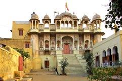 L'India, Mandawa: piccolo palazzo fotografie stock libere da diritti