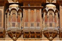 L'India, Ragiastan, Jaisalmer: Casa di haveli di Patwa fotografie stock libere da diritti