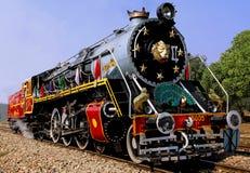 L'India: vecchio treno del vapore fotografia stock