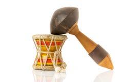 L'indiano tamburella lo strumento di maracas e di damaru Immagini Stock