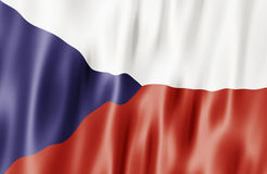 L'indicateur de République Tchèque Photographie stock libre de droits