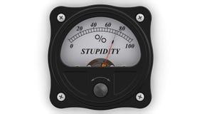 L'indicateur de stupidité dans l'action illustration stock