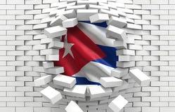 L'indicateur du Cuba illustration stock