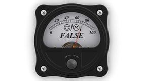 L'indicateur du FAUX dans l'action illustration stock