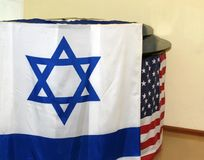 L'indicateur israélien Indicateur des Etats-Unis Images libres de droits