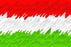 L'indicateur national de la Hongrie Image libre de droits