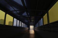 L'indicatore luminoso all'estremità del traforo Fotografie Stock