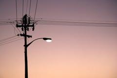 L'indicatore luminoso alla notte Immagine Stock
