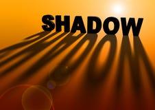 L'indicatore luminoso crea l'ombra Fotografia Stock
