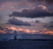 L'indicatore luminoso furioso dell'alba Fotografia Stock