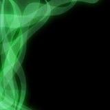 L'indicatore luminoso verde Glittery protegge gli ambiti di provenienza Immagini Stock