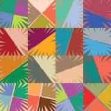 L'indicatore spesso a mano libera allinea la rappezzatura basata dei fiori, una struttura astratta, nei colori vivi illustrazione vettoriale