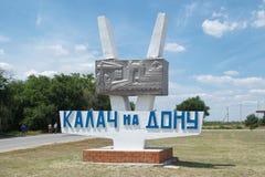 L'indice con l'iscrizione Kalatch-su-Don Immagine Stock Libera da Diritti