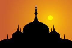 l'Indien couvre d'un dôme le coucher du soleil Images stock
