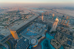 L'indirizzo Dubai del centro Immagini Stock