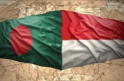 L'Indonésie et le Bangladesh Images libres de droits