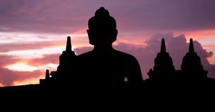 l'Indonésie, Java, Borobudur photos stock