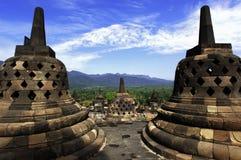 l'Indonésie, Java central. Le temple de Borobudur Photos stock