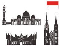 l'indonésie positionnement illustration stock